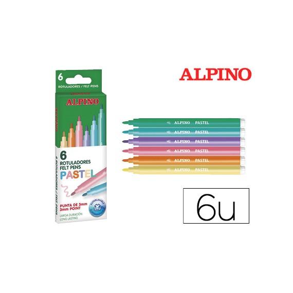 Marcador Alpino Standard Pastel Caixa De 6 Cores Sortidas  Escritório