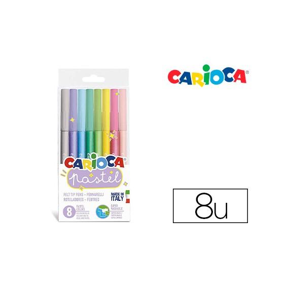 Marcador Carioca Pastel Blister De 8 Cores Sortidas  Escritório