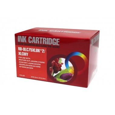 Tinteiro Brother Compatível LC1220XL/LC1240XL Pack 4-Color Brother Compatível Consumíveis