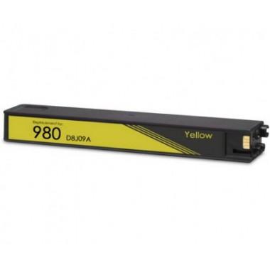 Tinteiro HP Compatível D8J09A Nº980XLY Amarelo (110 ml)