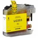 Tinteiro Brother Compatível LC-223Y Amarelo Brother Compatível Consumíveis