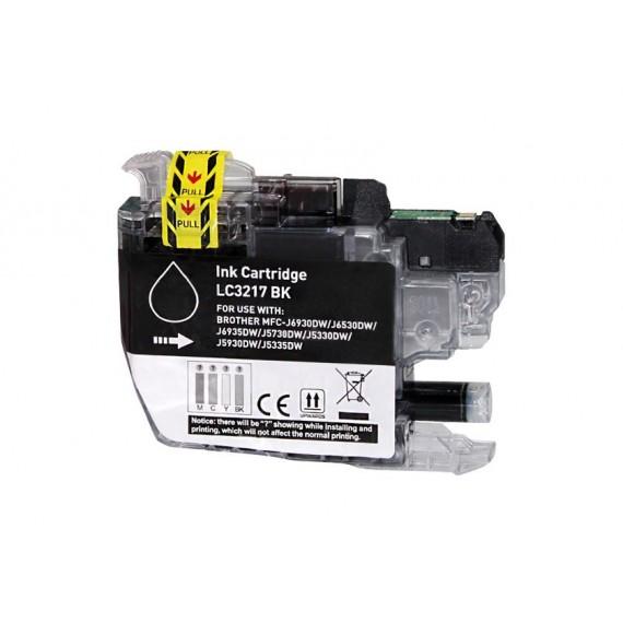 Tinteiro Brother Compatível LC-3217BK Preto (15 ml)