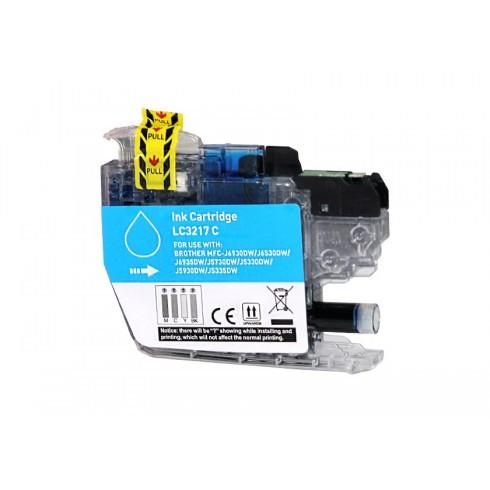 Tinteiro Brother Compatível LC-3217C Azul Brother Compatível Consumíveis