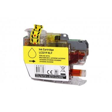 Tinteiro Brother Compatível LC-3219XLY Amarelo (18 ml)