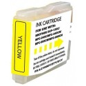 Tinteiro Brother Compatível LC-970XLY/LC-1000XLY Amarelo (26.6