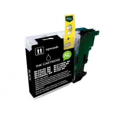 Tinteiro Brother Compatível LC-980XLBK/LC-1100XLBK Preto (28 ml)