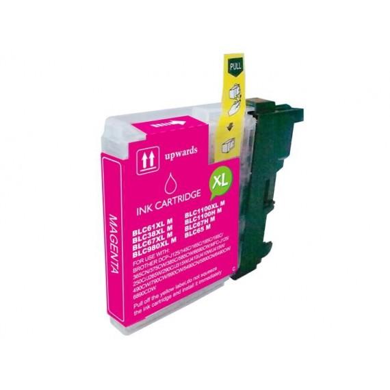 Tinteiro Brother Compatível LC-980XLM/LC-1100XLM Magenta (18 ml)