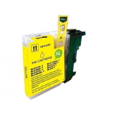 Tinteiro Brother Compatível LC-980XLY/LC-1100Y Amarelo (18 ml)