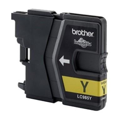 Tinteiro Brother Compatível LC-985XLY Amarelo (18 ml)