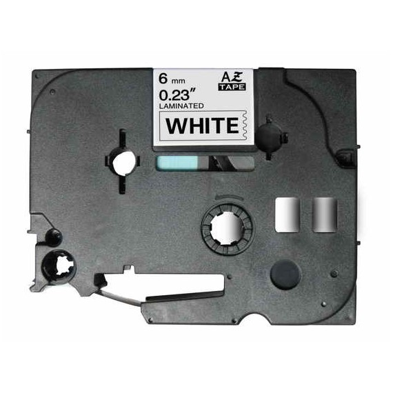 Fita Brother Compatível (TZE-211) 6mmx8m Preto e Branco