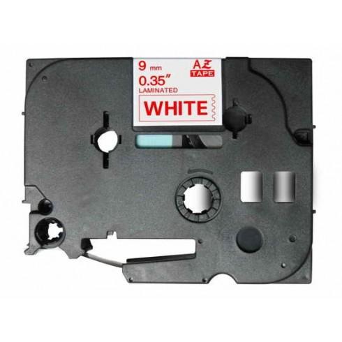 Fita Brother Compatível TZE-222 Vermelho/Branco Brother Compatível Consumíveis