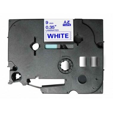Fita Brother Compatível TZE-223 Azul/Branco Brother Compatível Consumíveis