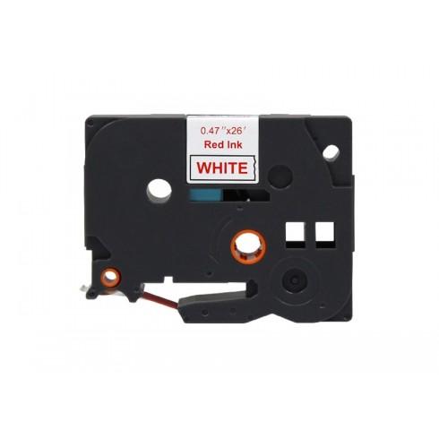 Fita Brother Compatível (TZE-232) 12mmx8m Vermelho e Branco