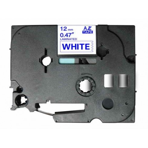 Fita Brother Compatível TZE-233 Azul/Branco Brother Compatível Consumíveis