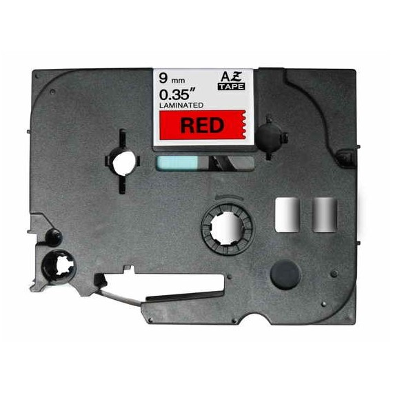 Fita Brother Compatível (TZE-421) 9mmx8m Preto e Vermelho