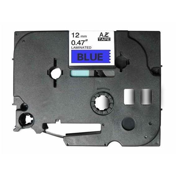 Fita Brother Compatível (TZE-531) 12mmx8m Preto e Azul