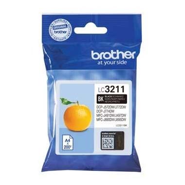 Tinteiro Brother Original LC3211BK Preto (200 Pág.)