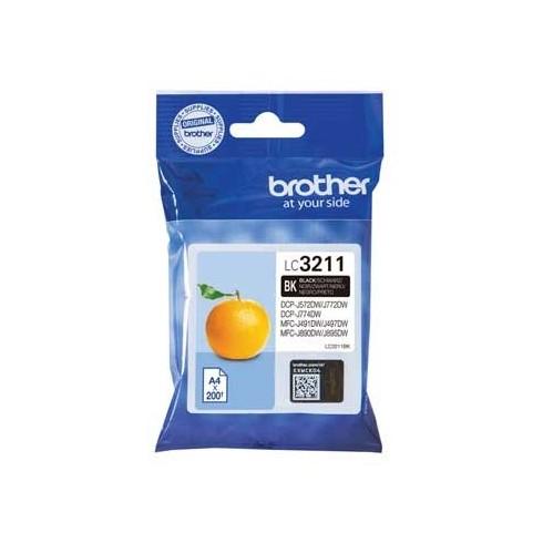 Tinteiro Brother LC3211BK Preto Brother Consumíveis