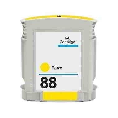 Tinteiro HP Compatível C9388AE/C9393AE Nº88XLY Amarelo (24.6 ml)