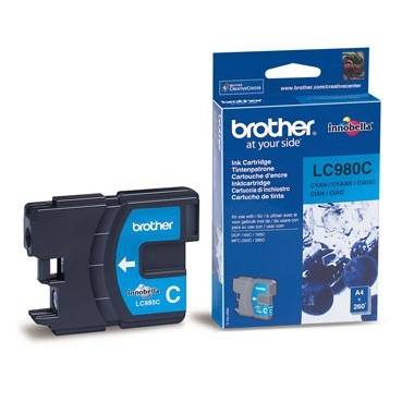 Tinteiro Brother LC980C Ciano Brother Consumíveis