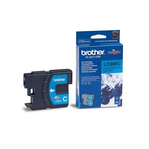 Tinteiro Brother LC980C Ciano Brother Consumíveis
