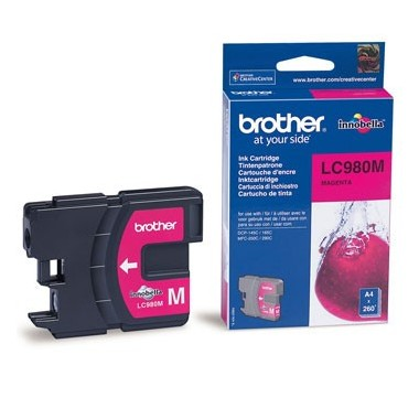 Tinteiro Brother LC980M Ciano Brother Consumíveis