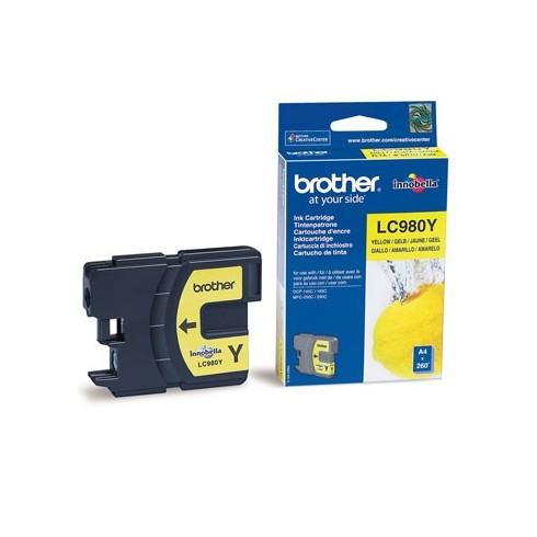 Tinteiro Brother Original LC980Y Amarelo (260 Pág.)
